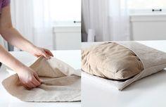 Como fazer capa de almofada, tutorial passo-a-passo para almofada envelope!