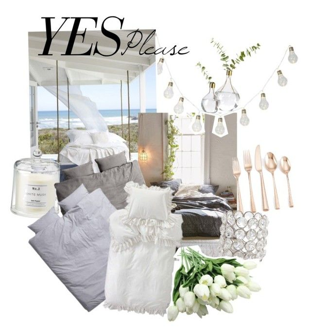 """Yes please!"" by amandablomqvist on Polyvore featuring interior, interiors, interior design, home, home decor, interior decorating, H&M, Magical Thinking, Lenox and Godinger"