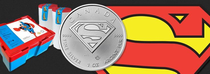 Best pricing on the Royal Canadian Mint Superman™ S-Shield 1 oz bullion silver coin. With a limited mintage of only 1 million coins, you will need to order yours today because we expect them to sell out faster than a speeding bullet! #superman