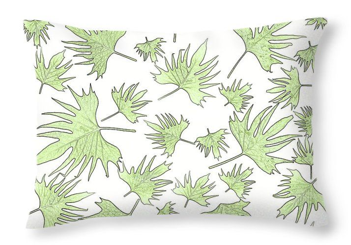 Canary Vine Leaves Throw Pillow featuring the photograph Canary Vine Leaves - Green by Sandra Foster