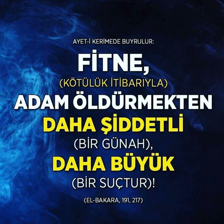 Fitne  #fitne #günah #ölüm #ayetler #islam #müslüman #ilmisuffa