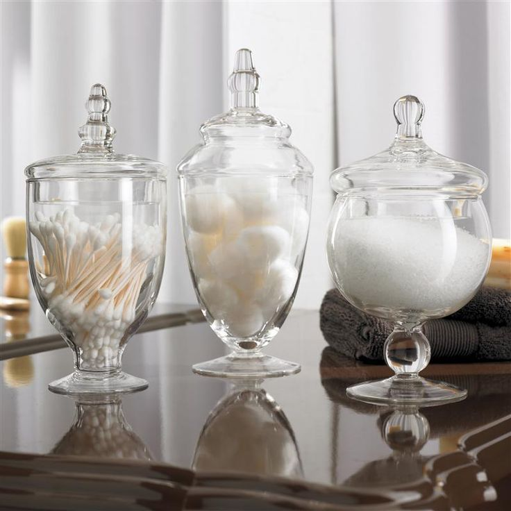 KSP Spa Apothecary Jars - Set of 3