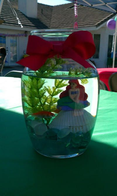 25 best ideas about little mermaid centerpieces on for Ariel decoration