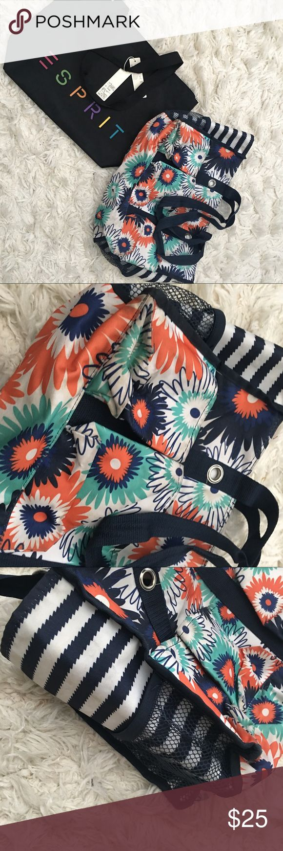 ESPRIT + THIRTY ONE BAG ESPRIT tote bag brand new with tags ($59.00) + THIRTY ONE tote utility bag ($45.00) used still in good condition. Esprit Bags Totes