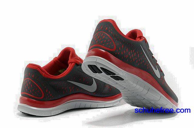 Damen Nike Free 3.0 V4 Schuhe Schwarz Rot