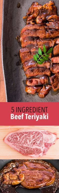 An authentic beef teriyaki recipe from scratch that only uses 5 ingredients. Tender steak seared and glazed with a glistening teriyaki sauce.