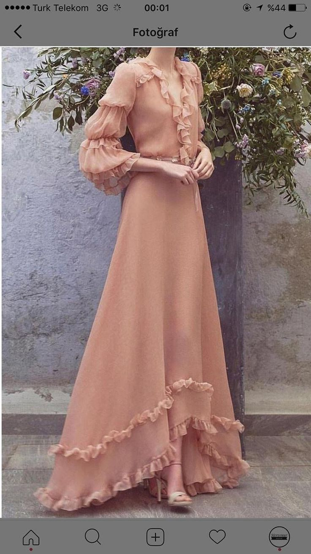 Pastel vintage dress modest muslimah hijab outfit,…