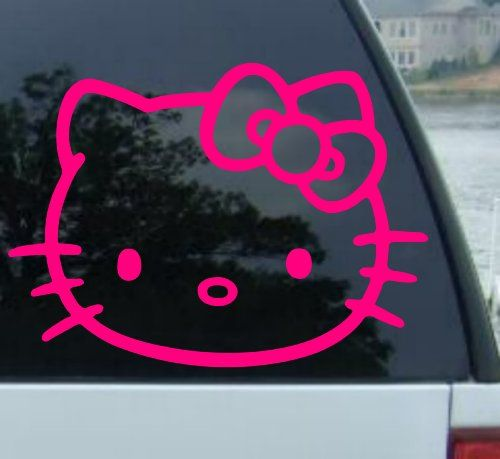 Best Hello Kitty Car Images On Pinterest Hello Kitty Car Car - Hello kitty custom vinyl decals for car