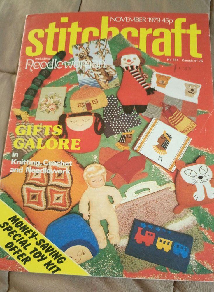 Stitchcraft November 1979 vintage knitting magazine needlewoman #Stitchcraft