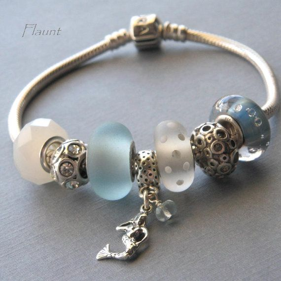 Mermaid Pandora Trollbeads style charm by FlauntDesignsJewelry, $18.00