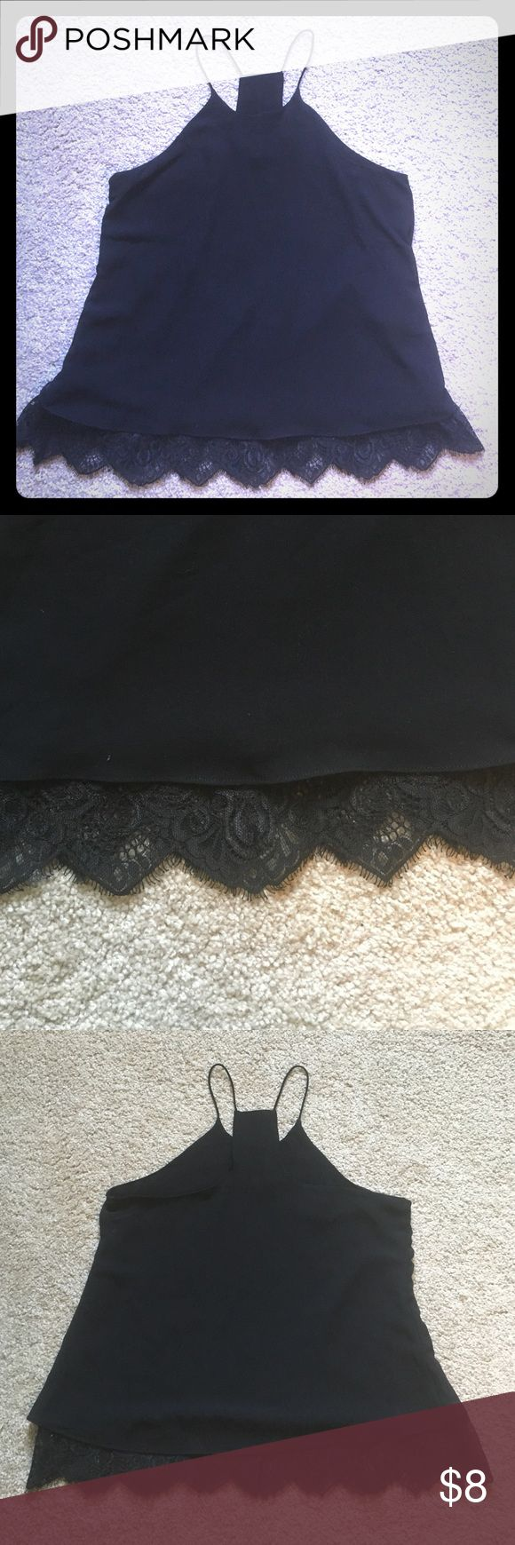 Lace Razorback Tank NWOT. Never worn! Pretty lace on the bottom! Tops Tank Tops