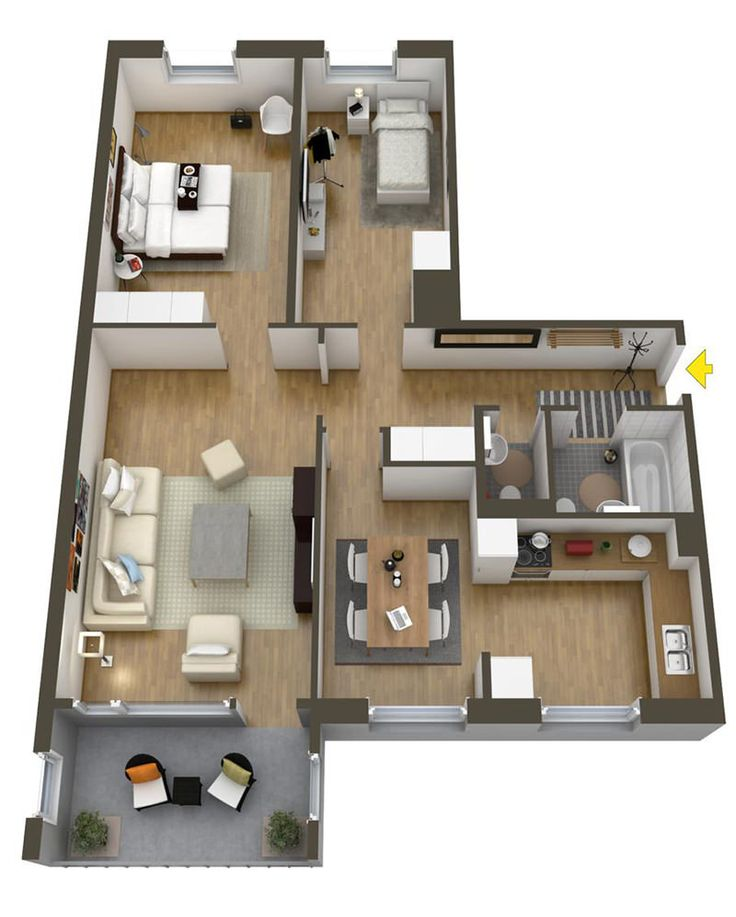 293 best Grundrisse images on Pinterest Bungalow floor plans - faire un plan de maison en 3d