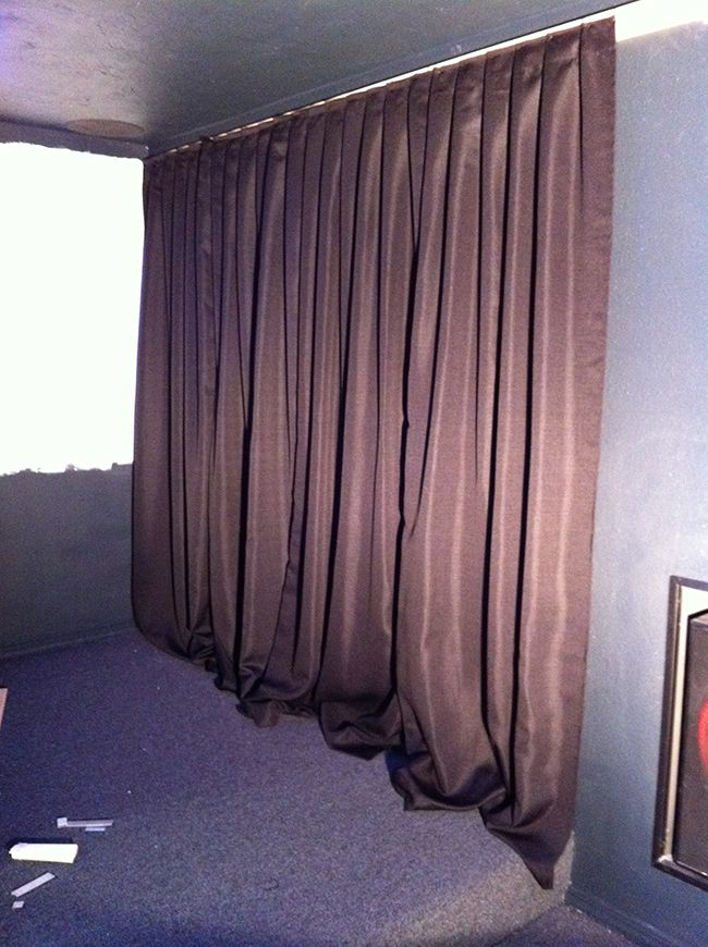 Home Theater Room Phase Ii Wall Curtains Projector Screen In