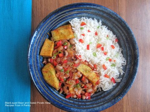 Black-eyed Bean and Sweet Potato #Stew – Sierra Leone Style from Recipes From A Pantry