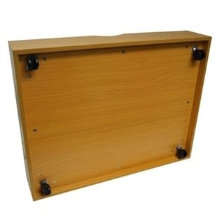 The Storage MAX Beech Wood Underbed Organizer with Wheels