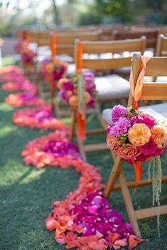 Colorful aisle style for a Southwest wedding ~ Style Me Pretty