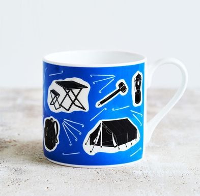 If you love camping, this is the perfect mug for you. Celebrating all things to do with camping and the outdoors it's big enough for a warming hot drink if just thinking about camping makes you feel cold. Its quirky design features images of the camping paraphernalia that makes camping great including tent, folding chairs and rucksack with little tent pegs to decorate the spaces in between. This mug will make lovely present for anyone who loves to camp. £10
