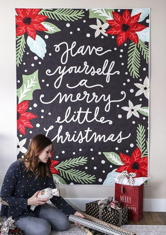 Moda Christmas Fabric 2019.Little Tree Moda Fabrics Love Panel Quilts Tree Quilt