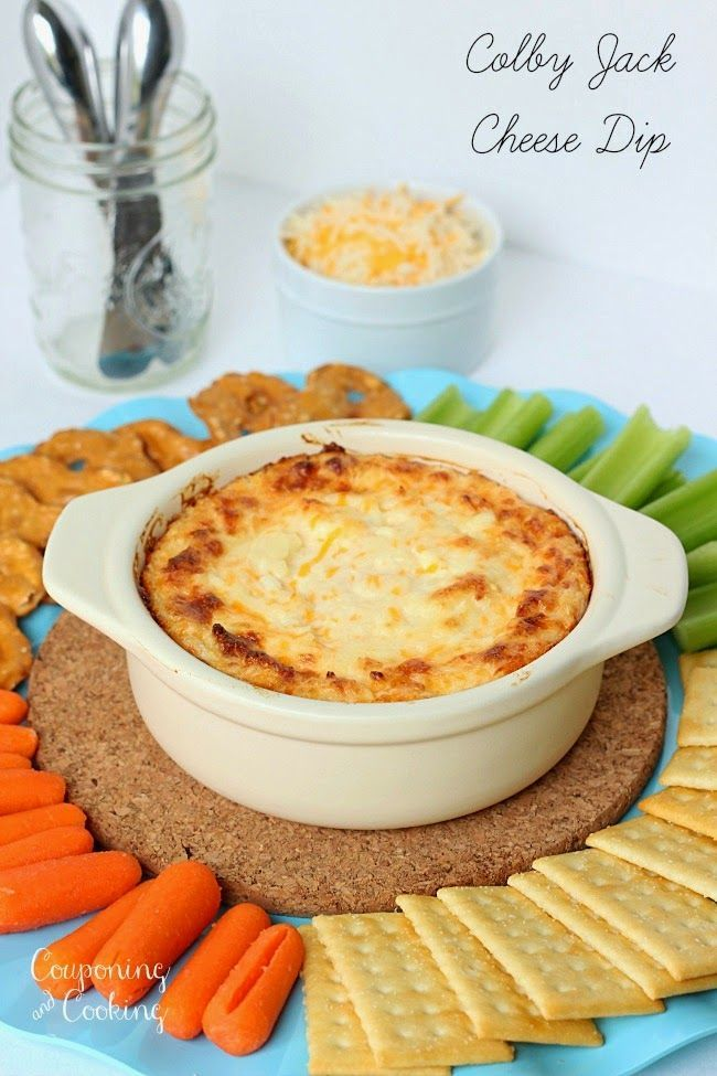 Colby Jack Cheese Dip is perfect as an appetizer or snack!