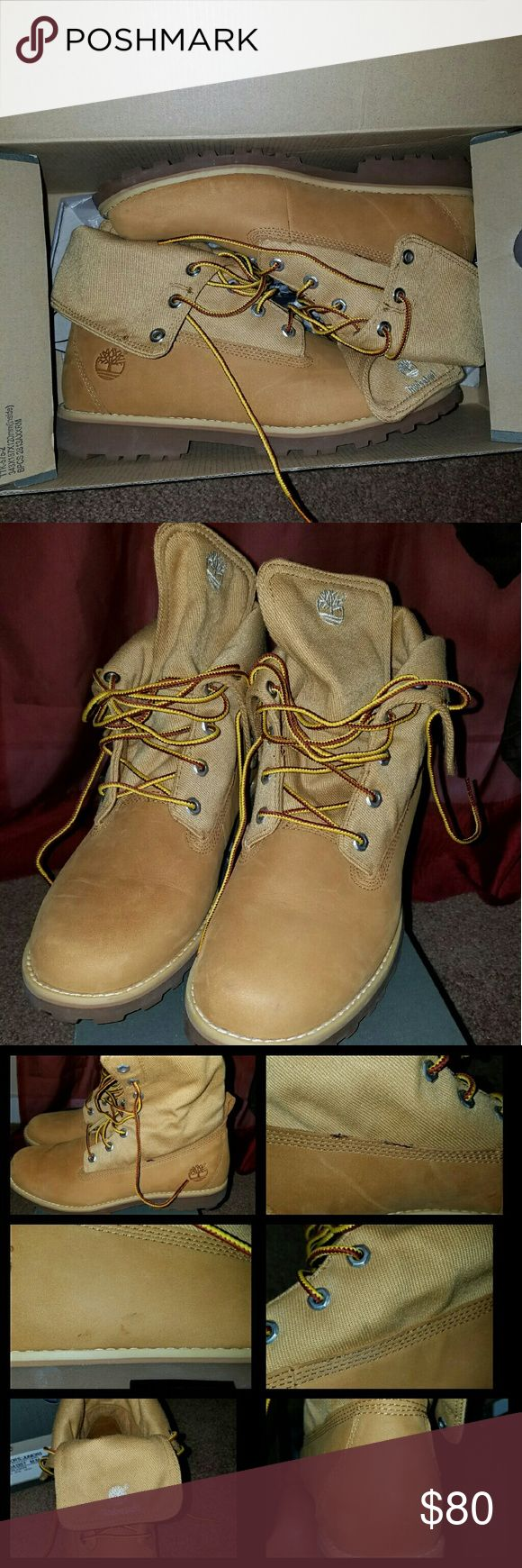 Wheat Timberland Boots Girl Wheat Timberland Boots, worn only a few times, there are a few flaws as you can see in the pics. Have a lot of wear left in them. Smoke/Pet free home :)! Timberland Shoes Boots