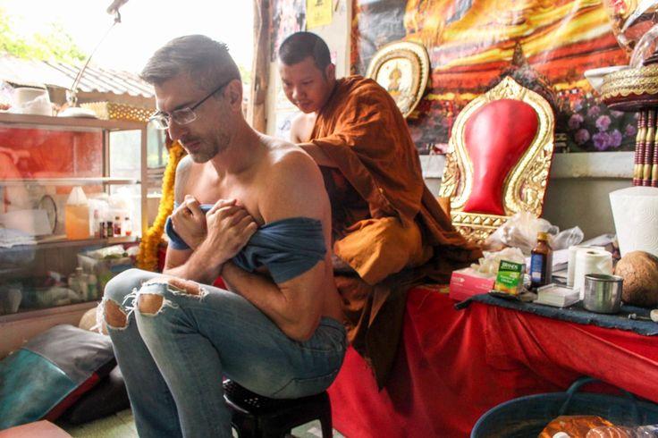 Sak Yant Blessed tattoo the spiritual bamboo tattoo in Thailand ...