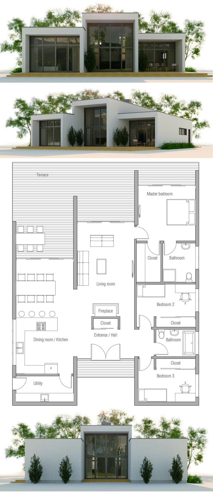 25+ best Modern home plans ideas on Pinterest | Modern house floor ...