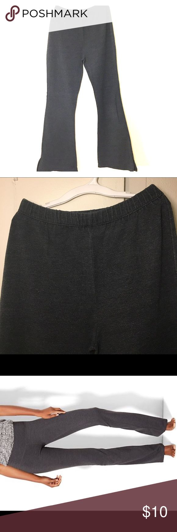 Yoga Pants Bootcut Graphite Heather Gray From workouts to running errands, we're loving any reason to spend the weekend in these slimming and streamlined bootcut yoga pants, featuring a cotton-stretch fabric.  OVERVIEW Full elastic waist. Flat front. Basic yoga pant.  FIT & SIZING Bootcut. Full length. Sits at lower waist. Slimming through hip & thigh. Size: S (155cm)  FABRIC & CARE 57% Cotton, 38% Polyester, 5% Spandex. Machine Wash. Imported. Pants Track Pants & Joggers