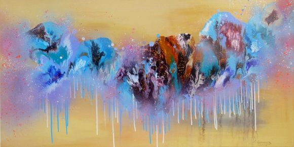 """Landscape Abstract painting  """"Autumn Emotions"""""""