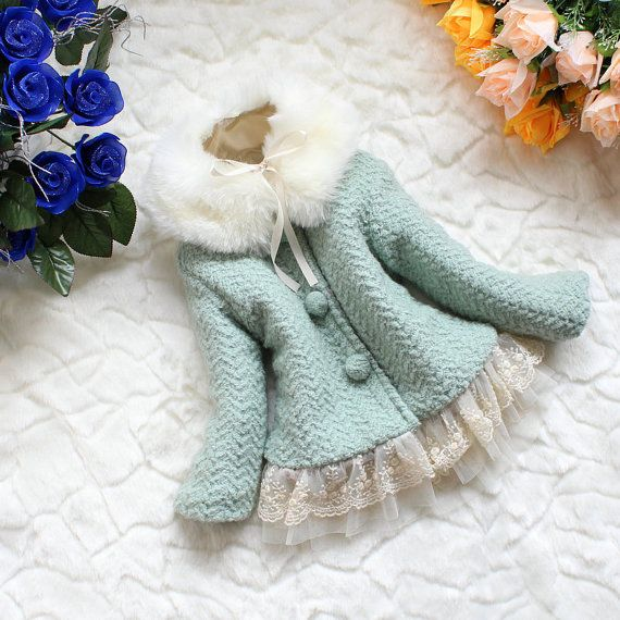 Baby Girl Winter Coat~ Kind of Victorian Inspired! The more I look at the detail, the more I like it!   (BabyGirlDress on Etsy)