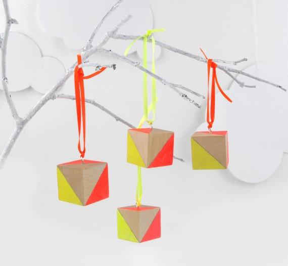 Neon Christmas Tree Decorations