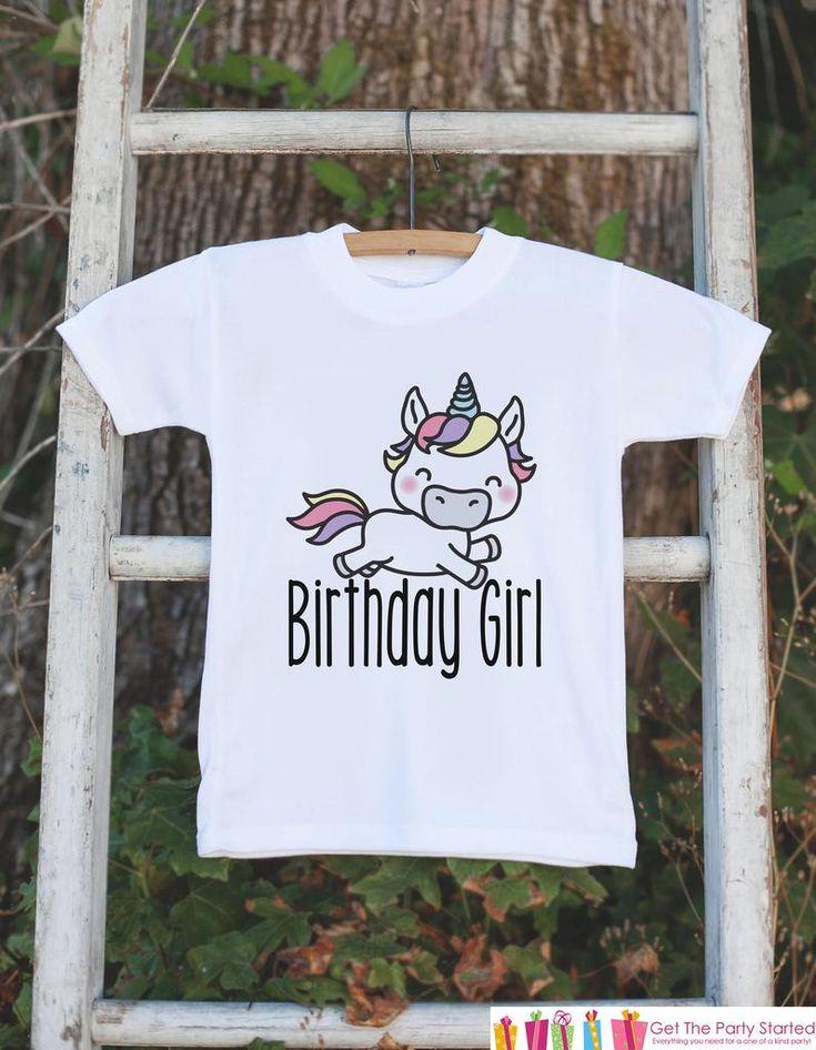Kids Birthday Shirt - Unicorn Birthday Girl Shirt - Birthday Shirts for Girls - Happy Birthday Shirt or Onepiece - Birthday Girl Outfit