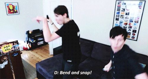 Dan and Phil displaying flawless dancing abilities He's  so sassy when he does that ^.^