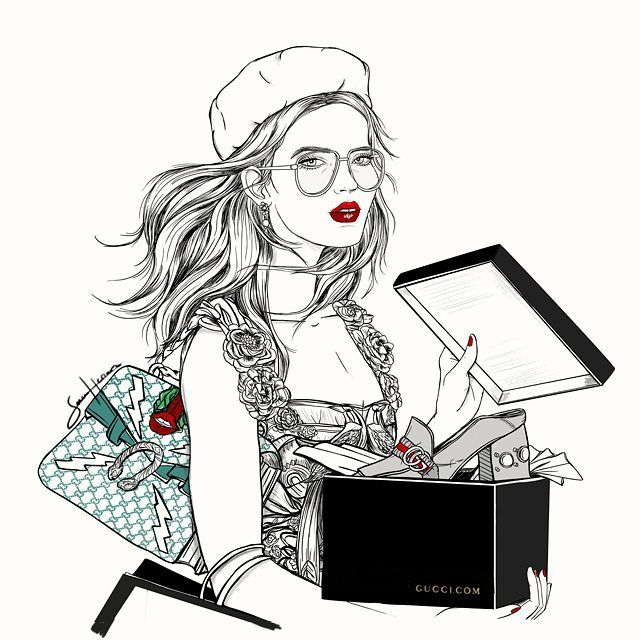 hey! it's christmas time! @gucci × @voguespain #saraherranz