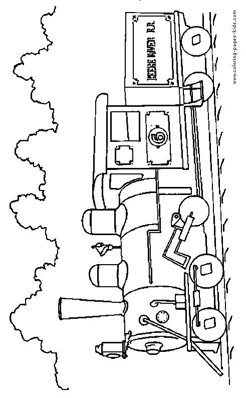 trucks and trains coloring pages - photo#1