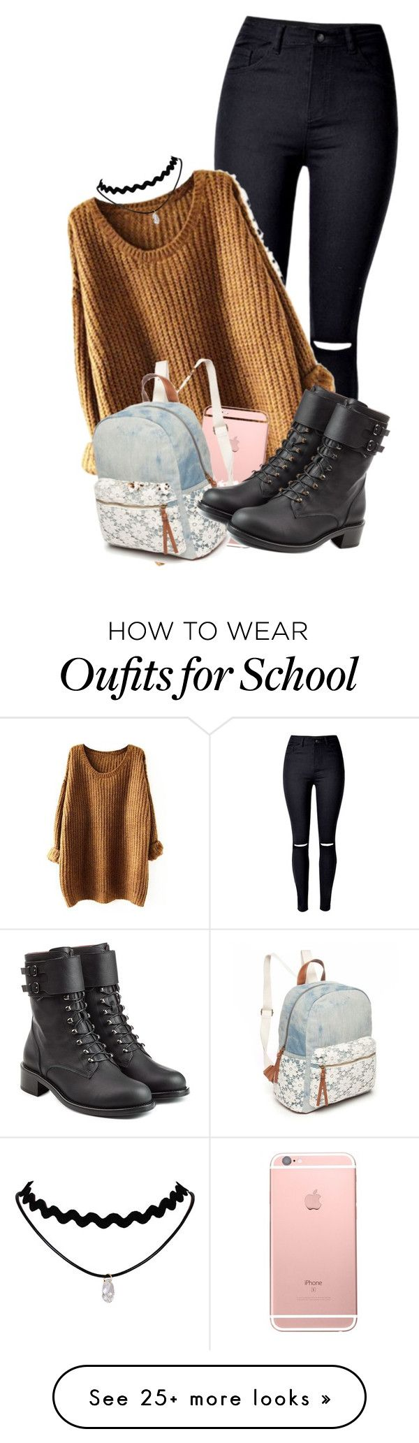 """""""Fall School Outfit"""" by mikkielaine on Polyvore featuring Red Camel and Philosophy di Lorenzo Serafini"""