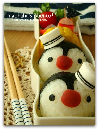 Aww, he reminds me of Pepperico! Must make! ~ 【かんかん便】かんかんチャン、ありがとう~ペンギンのお弁当~|naohaha's obento*