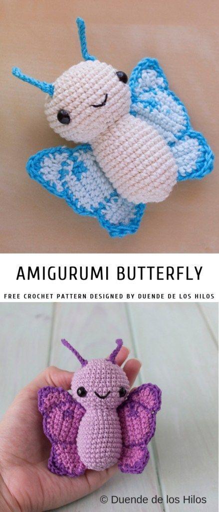 Amigurumi Schmetterling mit freiem Muster | Musterzentrum #amigurumi ...