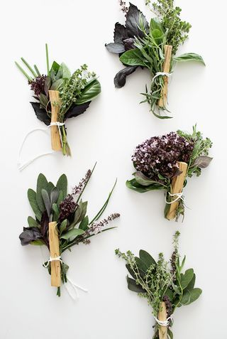 DIY fresh herb bouquets