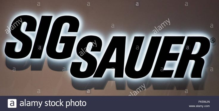 Nuremberg, Germany. 05th Mar, 2016. The Logo Arms Manufacturer Sig Stock Photo…