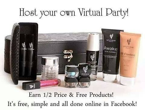 "Earn free and half-priced items for hostessing an online party, no need to clean your house! Just respond with ""what the heck!"" and let me take care of the rest. Women are absolutely flipping over the 3D Mascara!!!!! www.youniquecarriegirl.com"