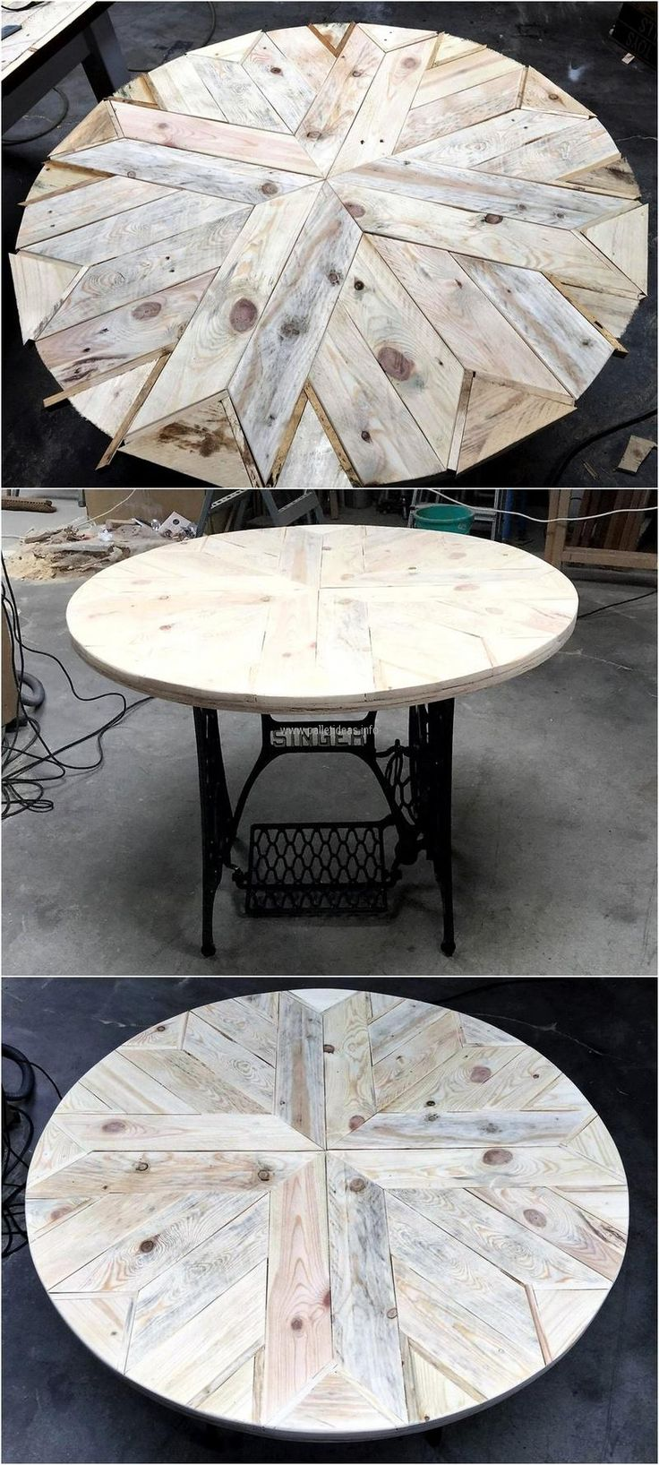 It is not necessary to make the whole thing with the pallets as only one part of an item can be created with them just like this idea of making table top and the design is looking awesome.