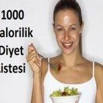 1000 Kalorilik Diyet Listesi (Haftalık Program)