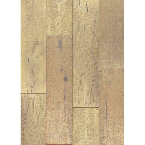 Miseno Shasta - 7-1/2 Engineered Hardwood Flooring - Handscraped White Oak Wood - Sold by Carton (36 SF/Carton) (