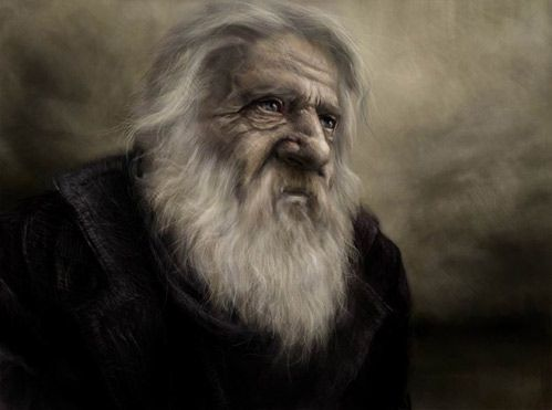 We think that Adam would be very knowledgeable due to his many experiences in life, thus he would look like this wise old man.