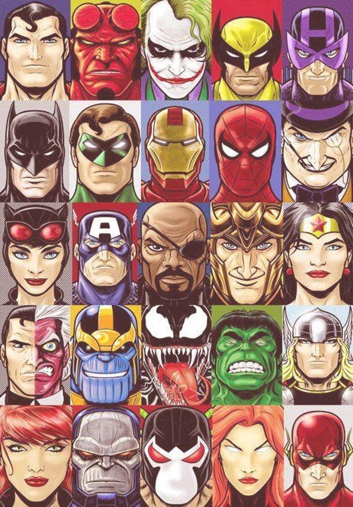 superhero faces pictures