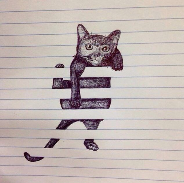 Awe, so cute! I love cats and this is really well drawn and very creative and cool.