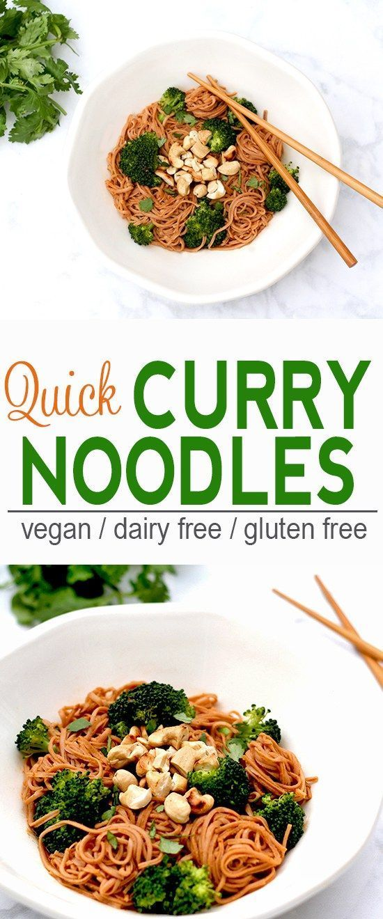 Quick Curry Noodles | Vegan, Dairy Free, Gluten Free | These Quick Curry Noodles make a  quick and tasty meal. | From @V_Nutrition | www.vnutritionandwellness.com: