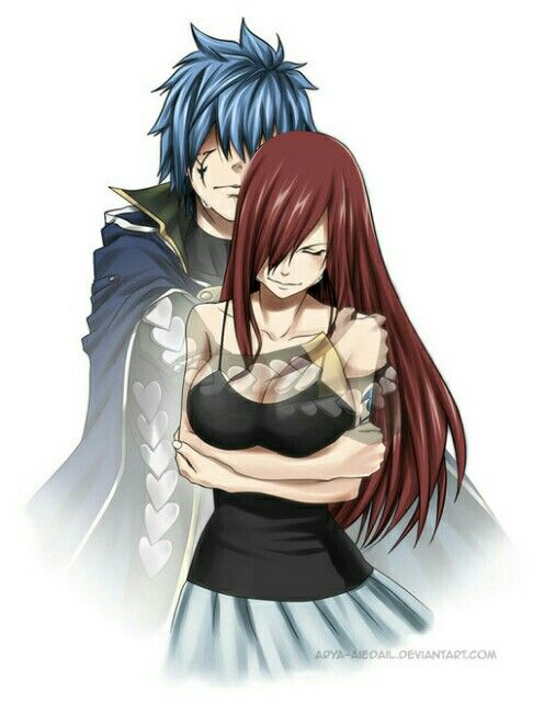 Fairy Tail, Jellal and Erza: