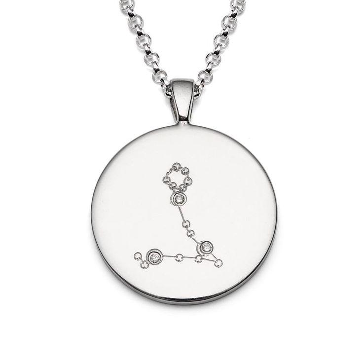 Silver Zodiac Constellation Diamond Necklace  Constellation Jewelry Zodiac Jewellery