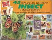 45 Genuine Postage Stamps Assortment – Insects